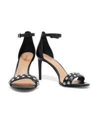 MICHAEL Michael Kors - Black Studded Leather Sandals - Lyst