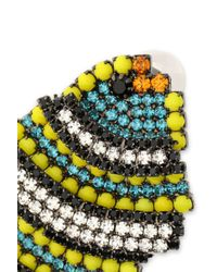 Elizabeth Cole - Multicolor Gunmetal-tone, Crystal And Stone Earrings - Lyst