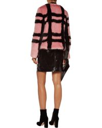 Shrimps - Multicolor Gustav Checked Faux Fur Coat - Lyst