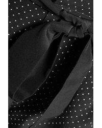 Joie - Black Printed Silk Crepe De Chine Shorts - Lyst