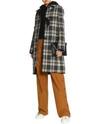 Helmut Lang - Green Tartan Wool-blend Twill Coat - Lyst