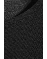 T By Alexander Wang | Black Jersey T-shirt | Lyst