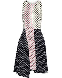 Tanya Taylor   Black Parton Flocked Faille Mini Dress   Lyst