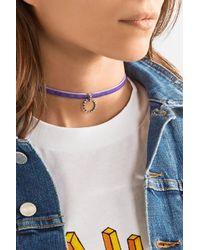 DANNIJO   Purple Vix Velvet, Silver-plated And Swarovski Crystal Choker   Lyst
