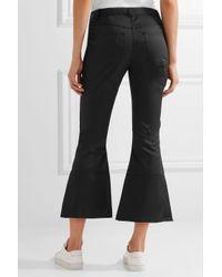 Marques'Almeida - Black Embellished Cropped Twill Flared Pants - Lyst