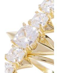 Noir Jewelry - Metallic Mirach Gold-tone Crystal Ring - Lyst