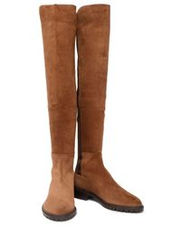 Stuart Weitzman - Woman Suede Knee Boots Light Brown Size 36 - Lyst