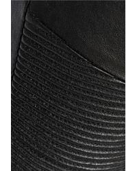 J Brand - Black Tonya Moto-style Leather Skinny Pants - Lyst