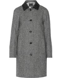 J.Crew - Blue Collection Embellished Herringbone Wool Coat - Lyst