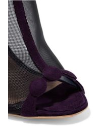 Nicholas Kirkwood - Purple Quantum Embellished Mesh And Suede Ankle Boots - Lyst