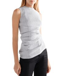 Rick Owens Multicolor Ribbed-knit Top Stone