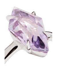 Alexis Bittar - Purple Silver-tone Crystal Ring - Lyst