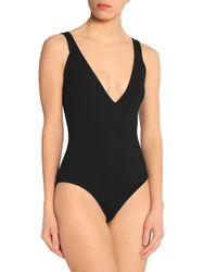 Iris & Ink - Black Simone Open-back Swimsuit - Lyst