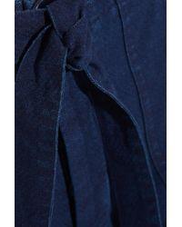 MiH Jeans - Blue Sonoran Cotton-twill Straight-leg Pants - Lyst