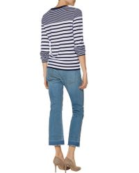 Equipment - Blue Shane Striped Cashmere Sweater - Lyst