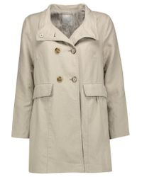 Joie | Blue Costela Cotton And Linen-blend Jacket | Lyst