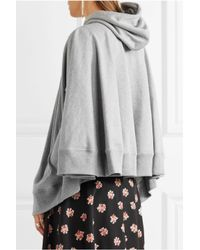 Junya Watanabe - Gray Hooded Printed Cotton-jersey Cape - Lyst