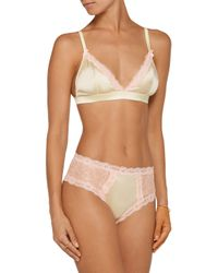 Mimi Holliday by Damaris - Multicolor Spin Lace-trimmed Satin Soft-cup Traingle Bra - Lyst
