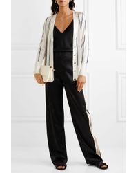 Lanvin - White Striped Knitted Cardigan - Lyst