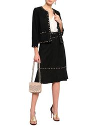 Kate Spade - Woman Studded Suede Jacket Black - Lyst
