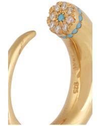 Iam By Ileana Makri - Metallic Thorn Eye Gold-plated Cubic Zirconia Ring - Lyst