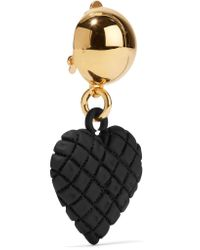 Moschino - Metallic Gold-tone And Coated Metal Earrings - Lyst