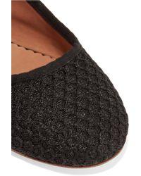 M Missoni - Black Honeycomb-mesh Ballet Flats - Lyst