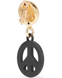 Moschino   Metallic Gold-tone And Coated Metal Earrings   Lyst