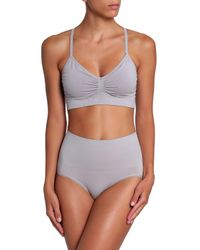 Yummie By Heather Thomson - Gray Jersey High-rise Briefs - Lyst