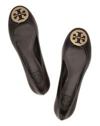 Tory Burch - Black Reva Leather Ballet Flats - Lyst