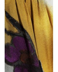 Marni - Yellow Floral-print Crepe Top - Lyst