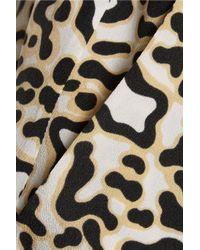 Stella McCartney - White Christine Printed Silk Tapered Pants - Lyst