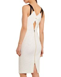 Roland Mouret - White Elvaston Crepe-paneled Cloqué Dress - Lyst