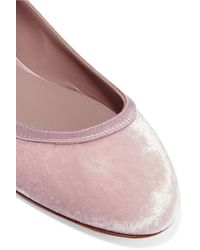 Aerin - Pink Leather-trimmed Leopard-print Calf Hair Ballet Flats - Lyst