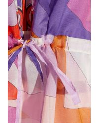 Emilio Pucci | Multicolor Printed Cotton-gauze Kaftan | Lyst