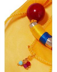 Rosantica - Metallic Yucatan Gold-tone, Quartz, Silk-chiffon And Wood Bracelet - Lyst