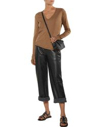 Enza Costa - Brown Cotton And Cashmere-blend Sweater - Lyst