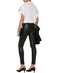 J Brand - Black Emma Stretch-leather Skinny Pants - Lyst