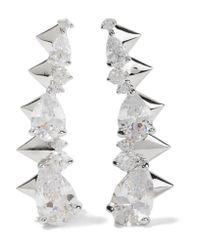 Noir Jewelry - Metallic Arctic Ice Silver-tone Crystal Earrings - Lyst