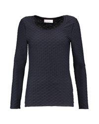 Carven | Blue Matelassé Jersey Top | Lyst