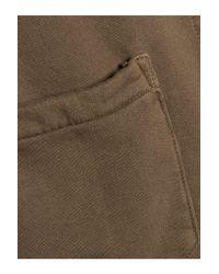 Current/Elliott - The Workwear Cotton-jersey Jacket Army Green - Lyst