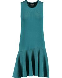 Issa - Blue Viola Fluted Stretch-jersey Dress - Lyst