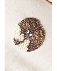 Raoul - White Appliquéd Paneled Stretch-knit Sweater - Lyst