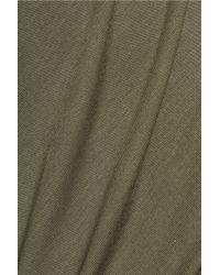 Majestic Filatures - Green Stretch-jersey Top - Lyst