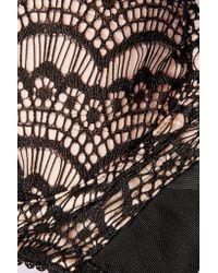 Mimi Holliday by Damaris - Black Silk-blend And Lace Plunge Bra - Lyst