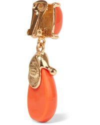 Kenneth Jay Lane - Multicolor Gold-tone Resin Clip Earrings - Lyst