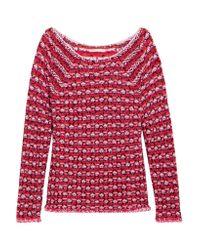 Maje - Red Marcel Jacquard-knit Sweater - Lyst