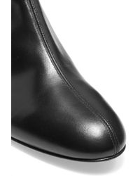 Casadei - Black Embellished Leather Knee Boots - Lyst