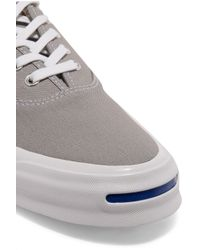 Converse - Gray Jack Purcell Signature Canvas Sneakers - Lyst