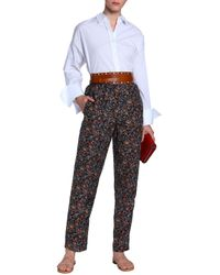 Isabel Marant - Multicolor Woman Printed Silk Straight-leg Pants Charcoal - Lyst